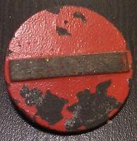 (No0056) German Winterhilfswerk WHW badge TRAFFIC SIGN WW2 NS Volkswohlfahrt