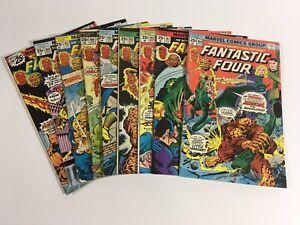 Fantastic Four 160 161 162 163 165 166 167 168 169 Marvel Bronze Age Lot Set Run