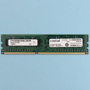 4GB DDR3 12800 1600MHZ Desktop 240 Pin Memory RAM Crucial