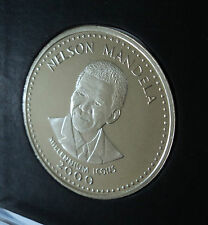 2000 SOMALIA Nelson Mandela MILLENNIUM icone 25 SCELLINI CORONA MONETA Gift Set