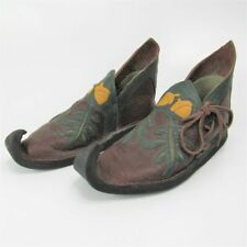 Handcrafted Leather Medieval Shoes Poulaines Acorns Celtic Renaissance Cosplay