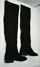 Stuart Weitzman Fangirl Black Suede Over The Knee Boots Size 5 1/2 - Excellent