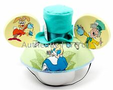 Disney Parks Alice in Wonderland Mad Hatter Tea Party Felt Mickey Ear Hat Cap