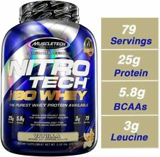 Muscletech Nitro-Tech 100% ISO Whey Protein Isolate 5 lb, 79 Servings VANILLA