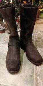 Mens Frye Harness Boots Dark Brown Size 10M