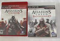 Assassins Creed Brotherhood and Creed III (Sony Playstation 3) PS3 Lot of 2