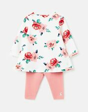 Joules Baby Girls Christina Dress And Legging Set  - White Floral