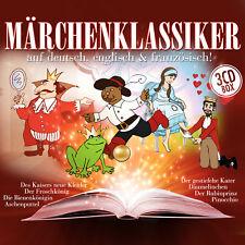 CD Conte de fées classiques en allemand,Anglais,Français d'Artistes divers 3CDs