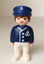 Playmobil 123 Figure Boat Ship Captain Skipper Sailor Blue Hat