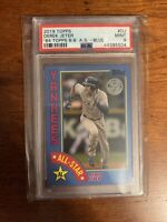 2019 Topps 1984 Blue Border All Star Derek Jeter Psa 9 Mint Yankees HOF
