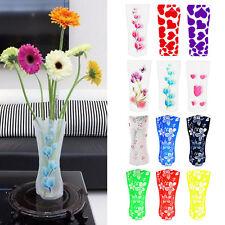 5pcs Foldable Plastic Unbreakable Reusable Flower Decor Vase Color Random New