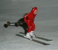 "VINTAGE LEAD BARCLAY ""GIRL ON SKIS IN RED"" B191 Near Mint Free Shipping  Lot J"