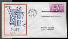WWII PATRIOTIC--V-E DAY 5/8/45 SHERMAN #9388 DETROIT PHILATELIC PUBLISHER