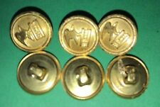 Vintage 6 Gold US Mail 1/2 inch Cuff Uniform Buttons Waterbury Co. Connecticut
