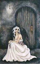 Amy Brown Fairy Faery Large Card The Key black feather wings secret door