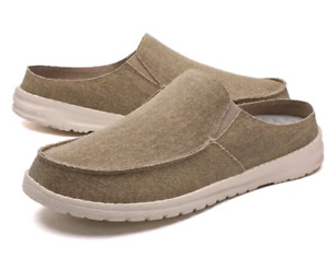 Casual Men Round Toe Slingback Comfort Soft Flats Sandals Slipers Slip On Shoes