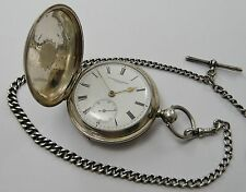VINTAGE 1886 RARE CHINESE HALLMARKED SOLID SILVER POCKET WATCH BY COURVOISIER