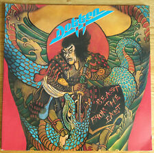 DOKKEN BEAST FROM THE EAST LP DOUBLE LIVE ALBUM VINYL G/FOLD COVER