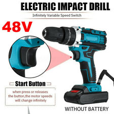 48V 1500 RPM 3 IN 1 Electric Hammer Drill Cordless 28N.m LED Light Screwdriver