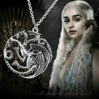 Game Of Thrones Daenerys Targaryen Dragon Necklace Song Of Ice & Fire &Blood NEW