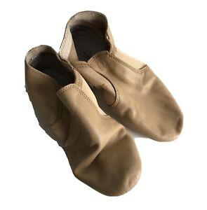 NEW NIB Revolution Dancewear STRETCH JAZZ BOOT Dark Tan 12AD Style #656