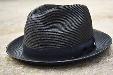 Mens Summer Fedora Hat, Poly braid Stingy Brim, Crushable & Light Weight EPf2680