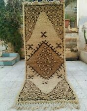 "Vintage Handmade Moroccan Rug wool Azilal Carpet Tribal Berber Rug 6'3"" x 2'1"""