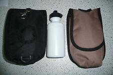 Satteltasche Packtasche Trinkflasche  englisch Sattel und Westernsattel braun