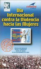 Chile 2002 Brochure dia Internacional contra la violencia hacia las Mujeres