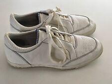 Travis Mathew Croskey White Leather Golf Shoes Mens US 11 UK 10 EU 44.5