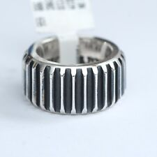 New KING BABY STUDIO Men's Sterling Silver Wide Gear Band Ring Size 9.5 $445