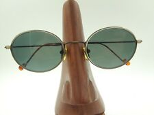 Vintage Oleg Cassini 836 Antic Gold Tortoise Metal Oval Sunglasses Frames