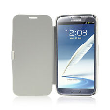 White Secure Flip Case Cover for Samsung Galaxy Note 2