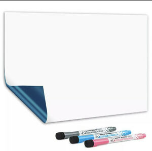 MAGNETIC WHITEBOARD FRIDGE DRY ERASE SIZE A4 WEEKLY PLANNER INCLUDES 3 FREE PENS