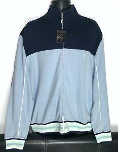 Mens YvesSaintLaurent YSL zip cardigan/sweater sky-blue size XXL rare