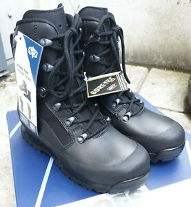 New British Army Black Goretex Haix Combat Boots Mens UK 5 W 5W MALE Cadets