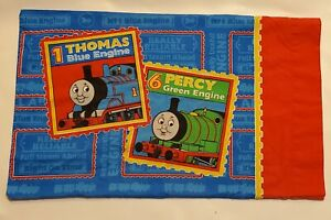 Thomas Train Pillowcase Standard Dbl Sided Percy James Gordon Dan River 2002 GUC