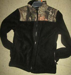 Mossy Oak BOYS Camouflage Full Zip Performance Fleece Jacket 10 /12 Hunting NWT