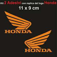 Kit 2 Adesivi Honda Moto Stickers Adesivo 11 x 9 cm decalcomania ARANCIONE