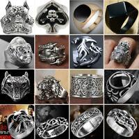 Men Stainless Steel Targaryen Dragon Rings Fashion Punk Band Silver Ring Jewelry