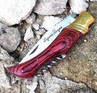CL-5395 Couteau Laguiole Bougna Lame en Acier Inoxydable 9,5 cm Manche Bordeaux