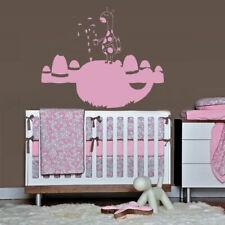 Wall Decal Whale Water Animal Ocean Sea Cartoon Funny Floats Bedroom M424