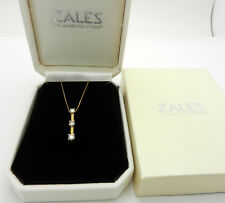 Zales 3 Stone Journey 0.45 tcw Diamond Pendant Necklace in 14k Yellow Gold