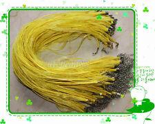 20-100Pcs Organza Voile Ribbon Necklace Silk Cord Thread Wire Clasp 43cm+5cm