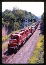 n116 Orig. Slide CP Rail 3069 Plus 3 on Special at Clarks Summit, PA 1998
