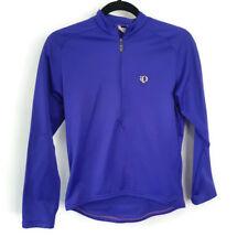 Pearl Izumi Womens Long Sleeve Purple Cycling Bike Shirt Purple 1/2 Zip Small