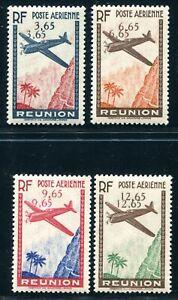 REUNION 1938 Yvert PA 2-5 * teils ** POSTFRISCH DOPPELTE WERTZIFFERN 880€+(S5328