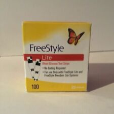 Freestyle Lite Blood Glucose Test Strips - 100 Count exp. 22