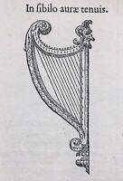 Harpe 1557 Harpiste Instrument de Musique Poison Cléopatre Égypte Antoine Pline