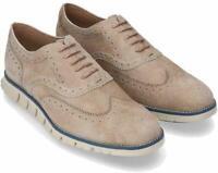 Cole Haan ZEROGRAND Beige Mens Size 7M Oxfords Wingtip Shoes